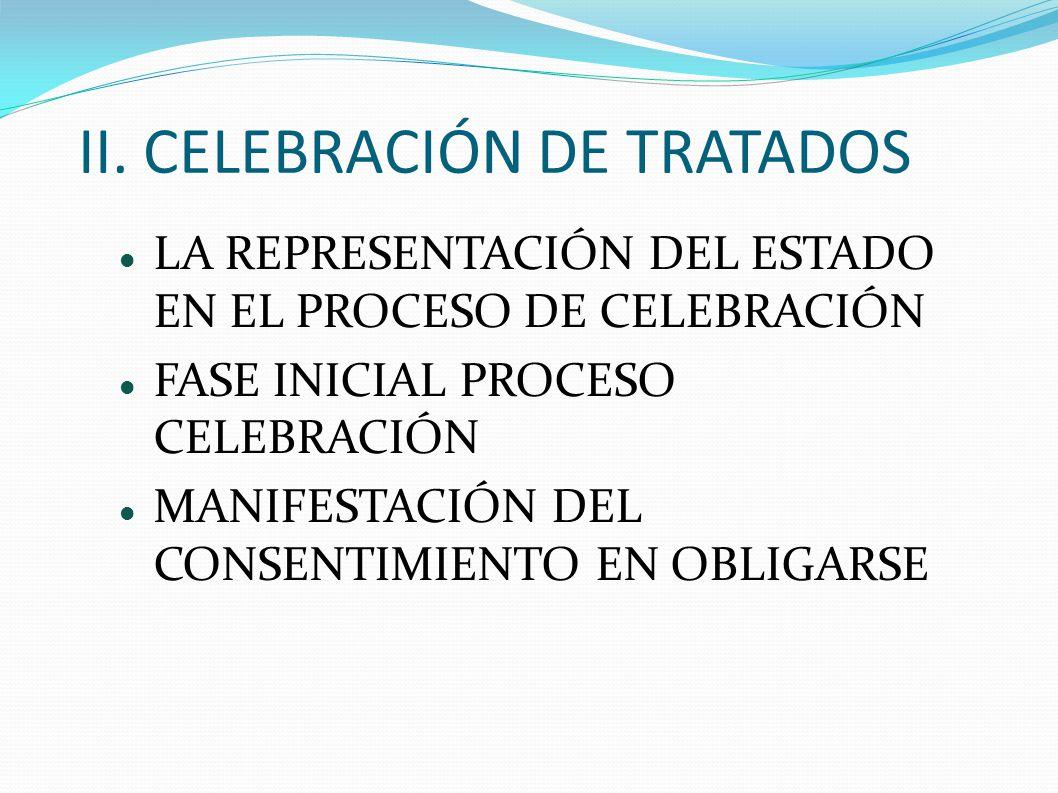 II. CELEBRACIÓN DE TRATADOS