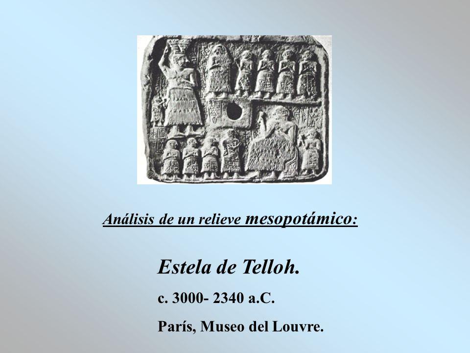 Estela de Telloh. Análisis de un relieve mesopotámico: