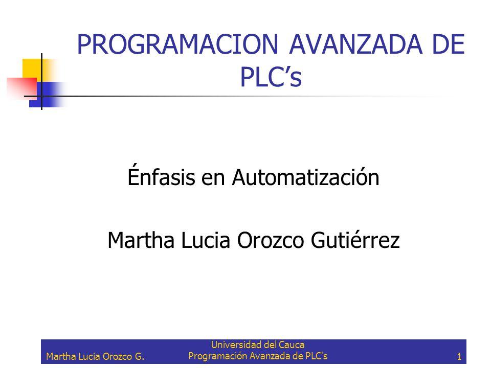 PROGRAMACION AVANZADA DE PLC's