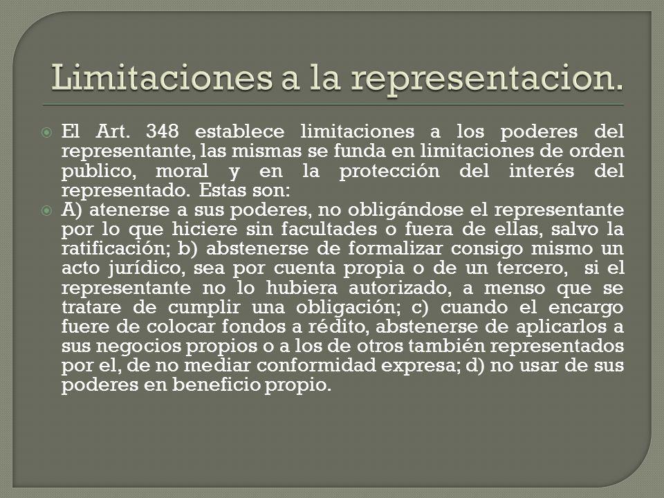 Limitaciones a la representacion.