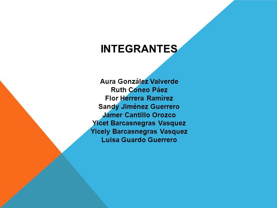 INTEGRANTES Aura González Valverde Ruth Coneo Páez