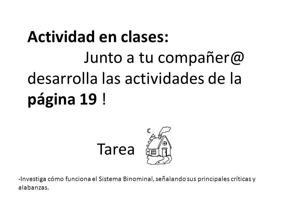 Junto a tu compañer@ desarrolla las actividades de la página 19 !