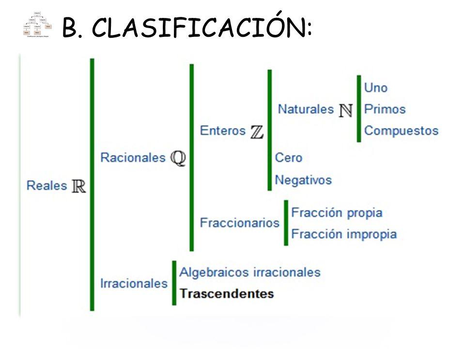 B. CLASIFICACIÓN: