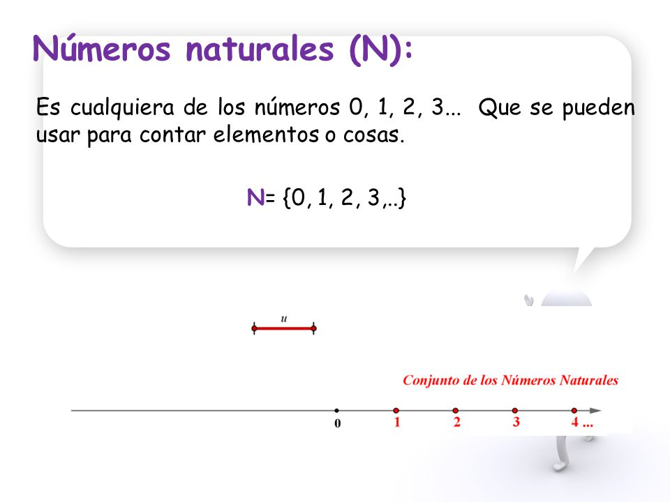 Números naturales (N):