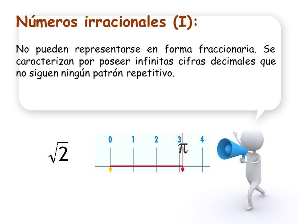 Números irracionales (I):