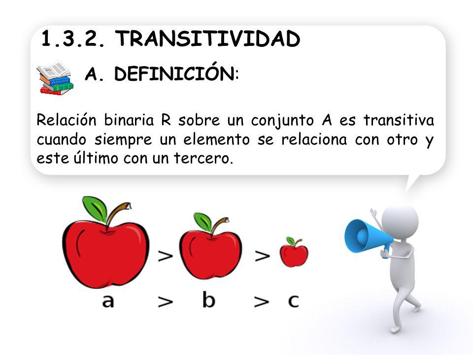 1.3.2. TRANSITIVIDAD A. DEFINICIÓN: