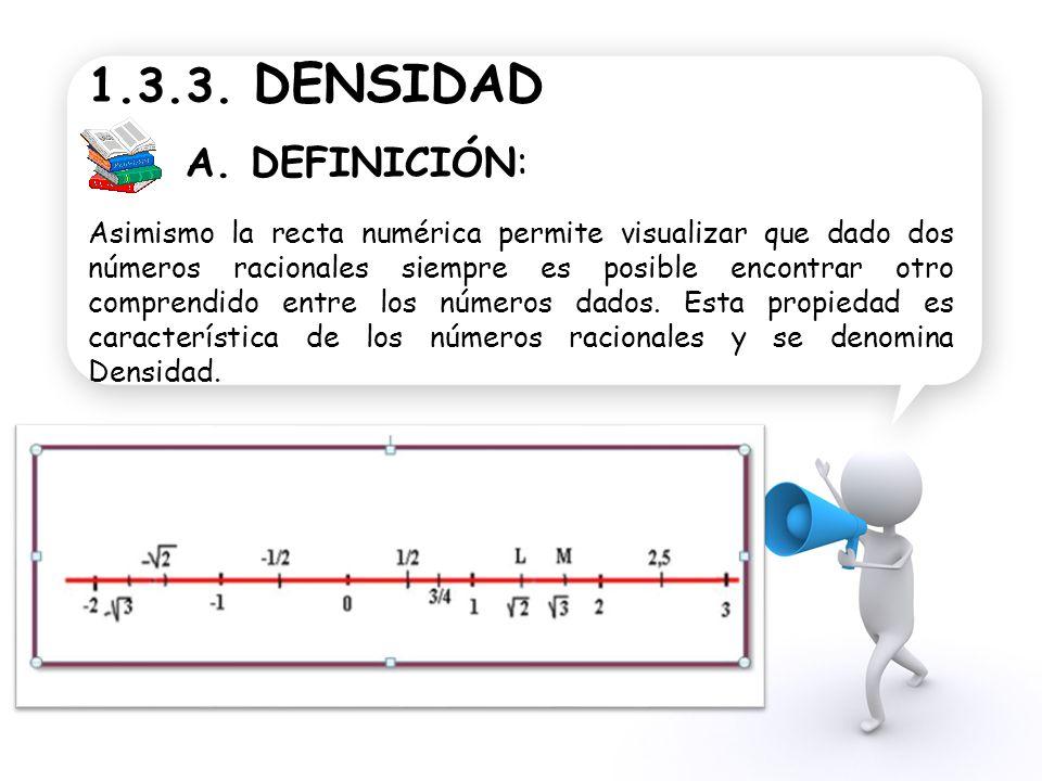 1.3.3. DENSIDAD A. DEFINICIÓN: