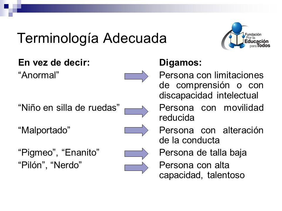 Terminología Adecuada