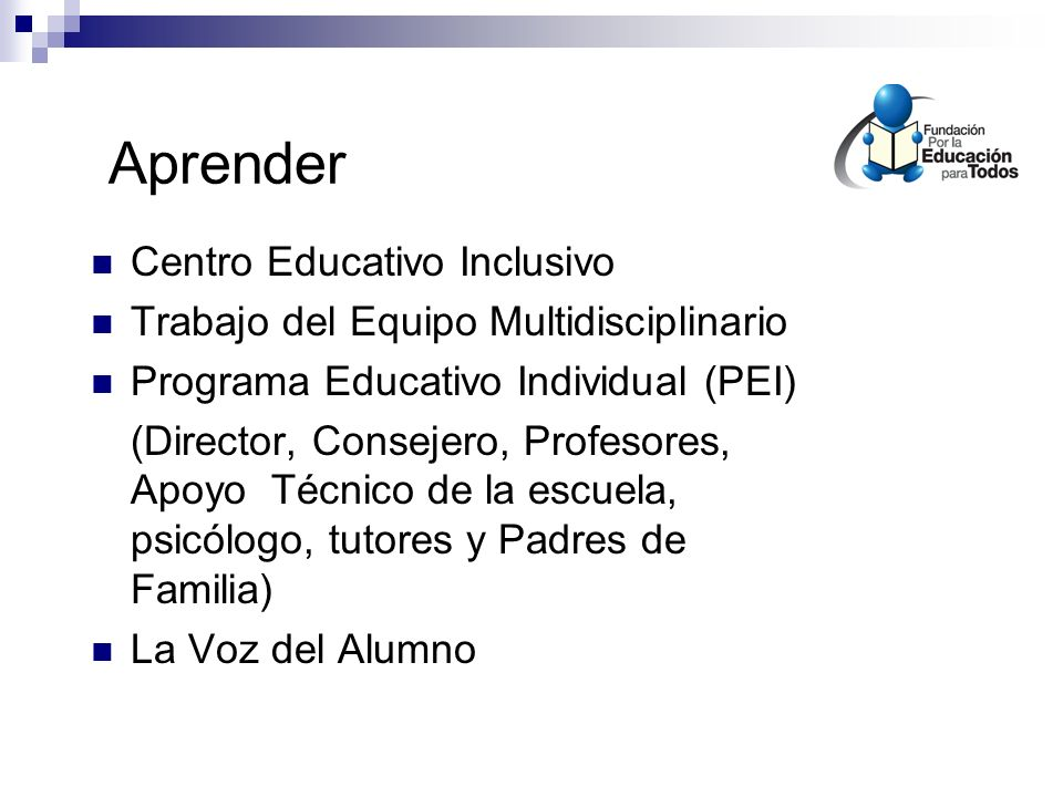 Aprender Centro Educativo Inclusivo
