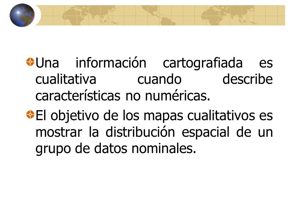 Una información cartografiada es cualitativa cuando describe características no numéricas.