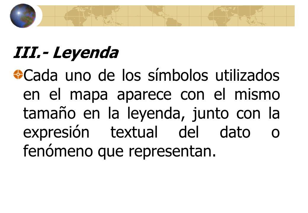 III.- Leyenda