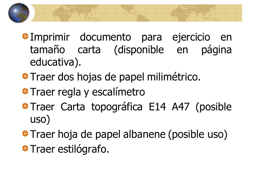 Imprimir documento para ejercicio en tamaño carta (disponible en página educativa).