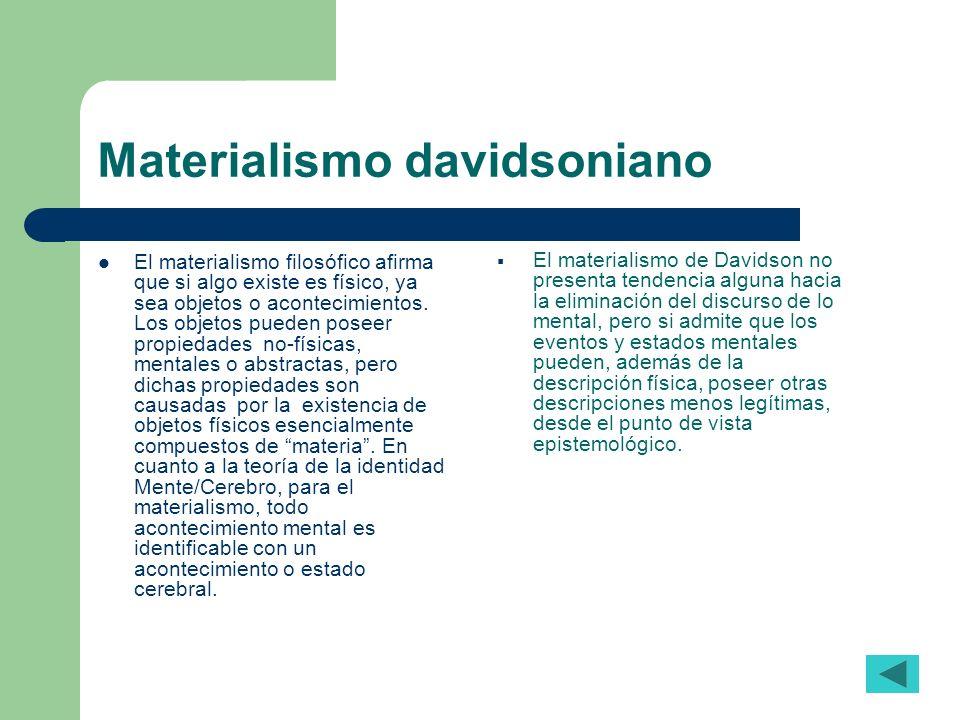 Materialismo davidsoniano
