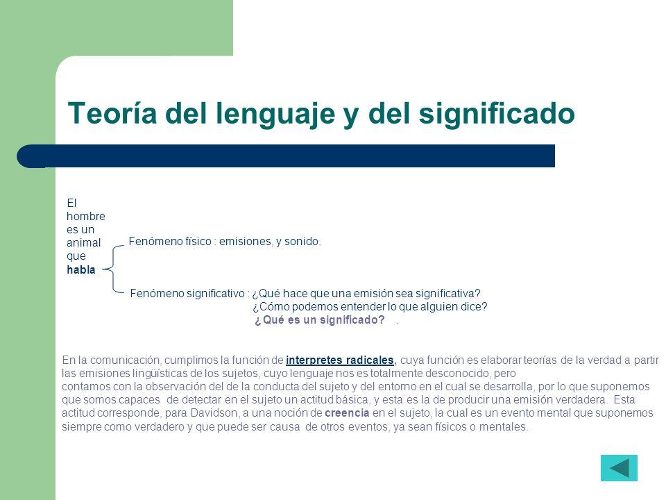 Teoría del lenguaje y del significado