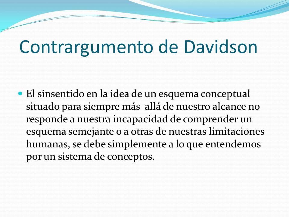 Contrargumento de Davidson