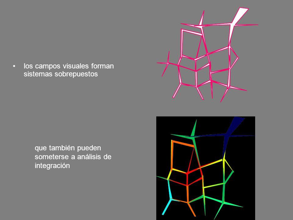 los campos visuales forman sistemas sobrepuestos
