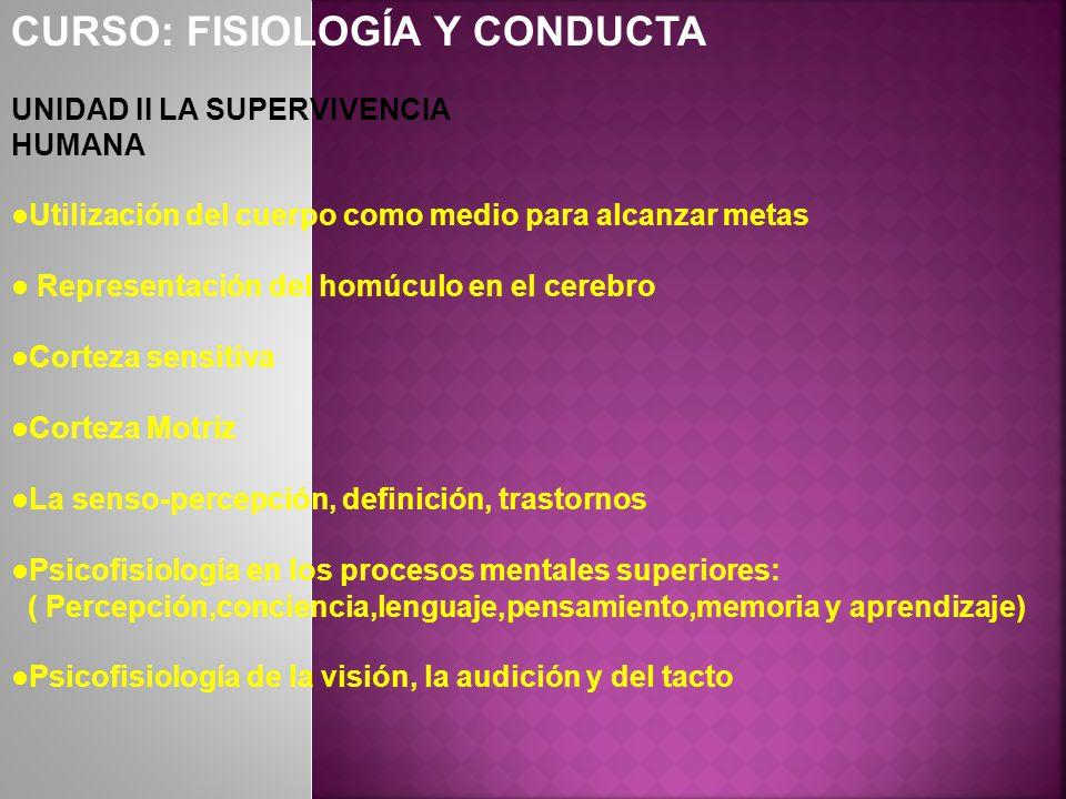 CURSO: FISIOLOGÍA Y CONDUCTA