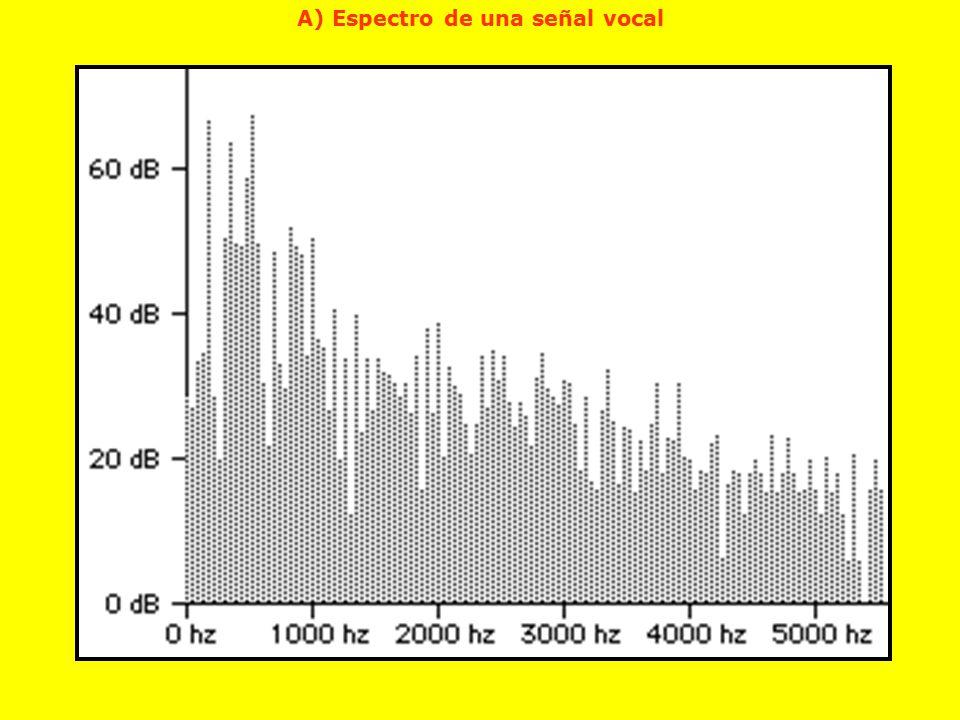 A) Espectro de una señal vocal