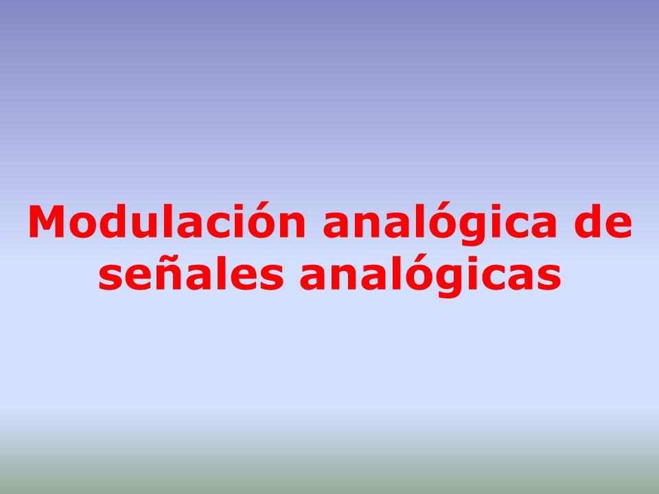 Modulación analógica de señales analógicas