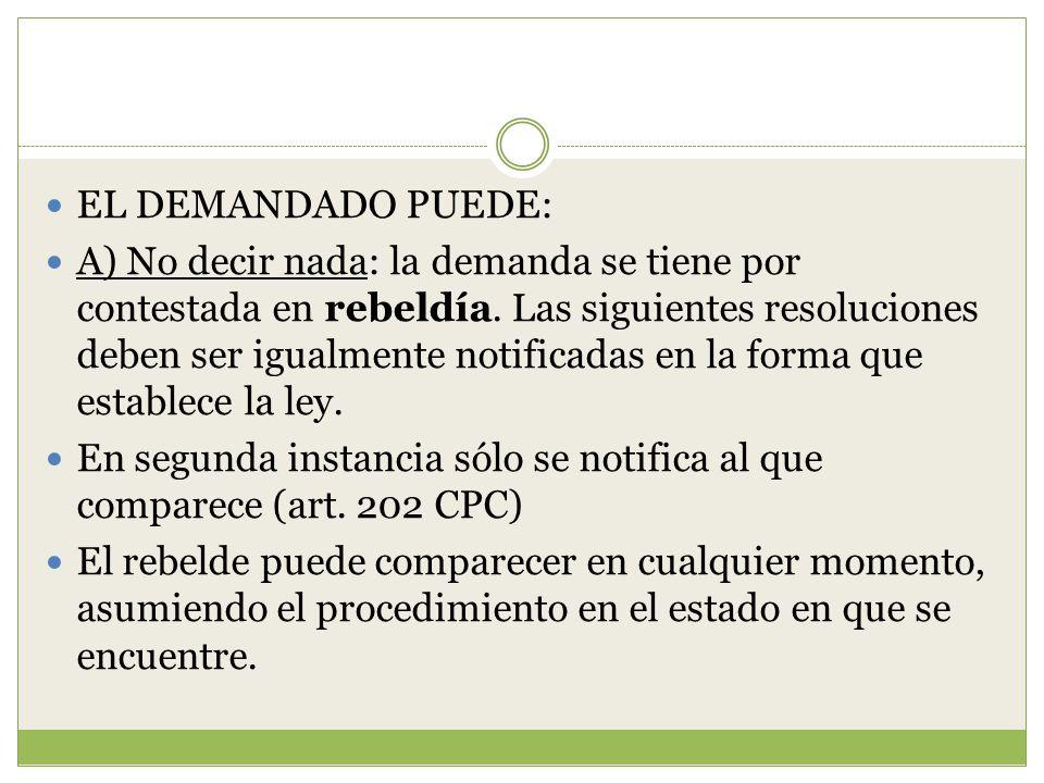 EL DEMANDADO PUEDE: