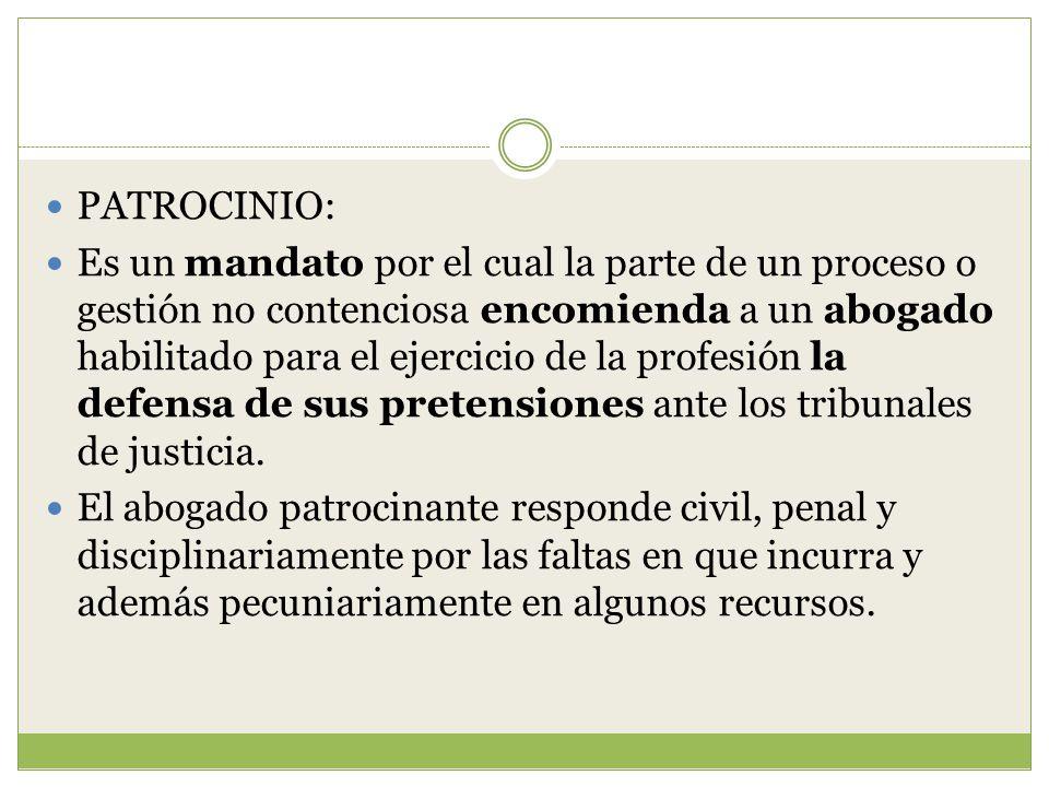 PATROCINIO: