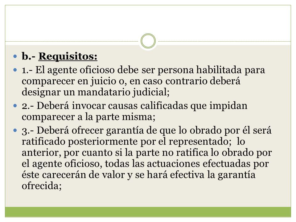 b.- Requisitos:
