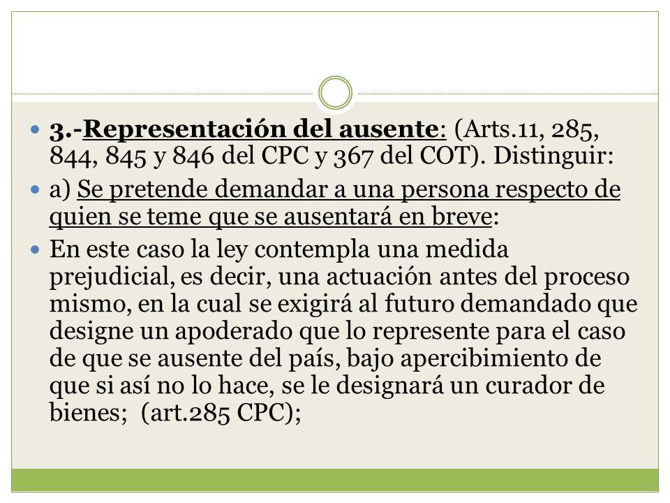 3. -Representación del ausente: (Arts