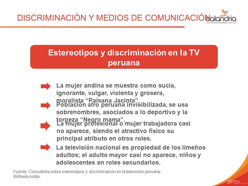 Estereotipos y discriminación en la TV peruana