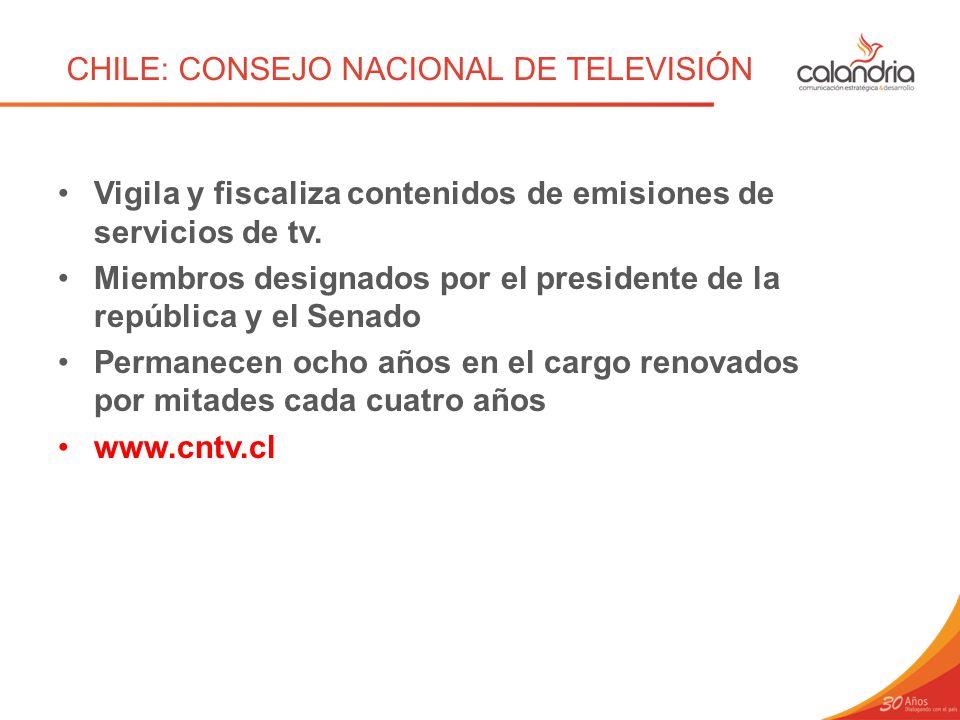 CHILE: CONSEJO NACIONAL DE TELEVISIÓN