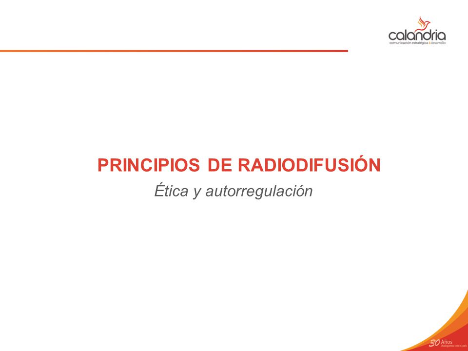 PRINCIPIOS DE RADIODIFUSIÓN