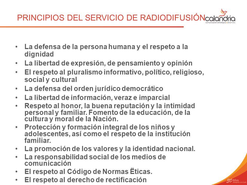 PRINCIPIOS DEL SERVICIO DE RADIODIFUSIÓN