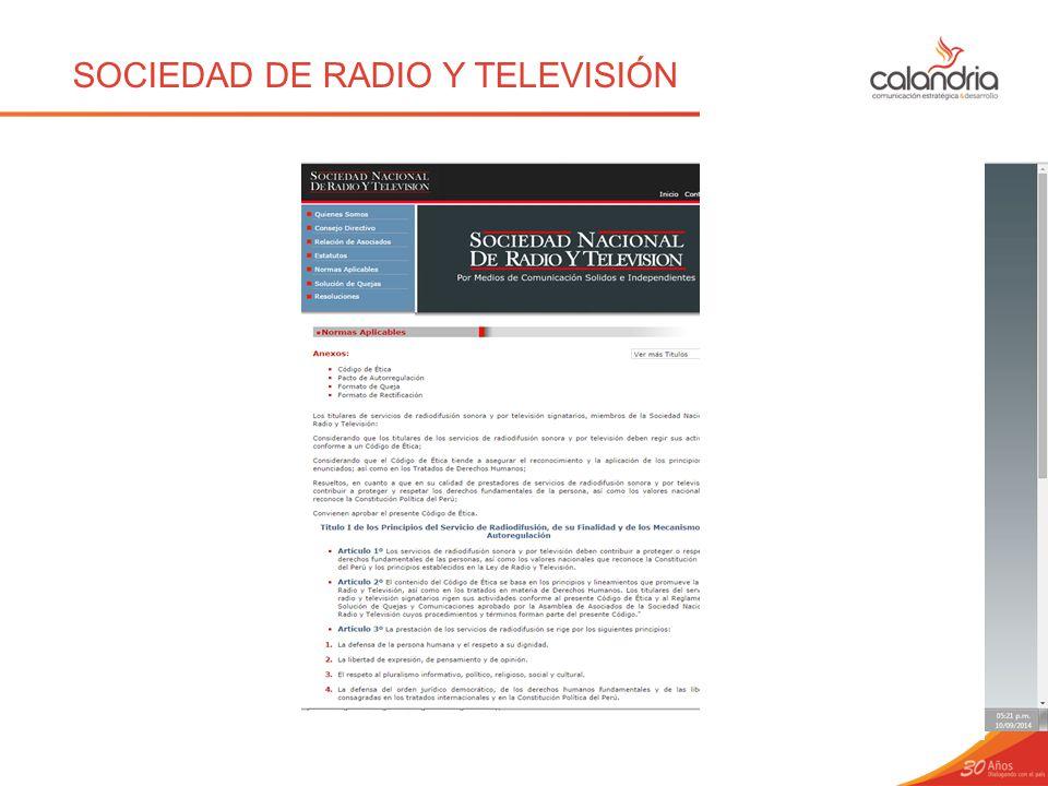 SOCIEDAD DE RADIO Y TELEVISIÓN
