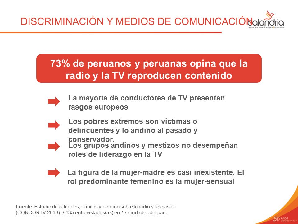 DISCRIMINACIÓN Y MEDIOS DE COMUNICACIÓN