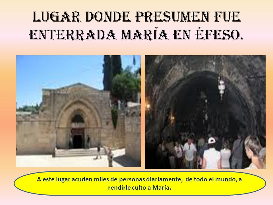 Lugar donde presumen fue enterrada María en Éfeso.