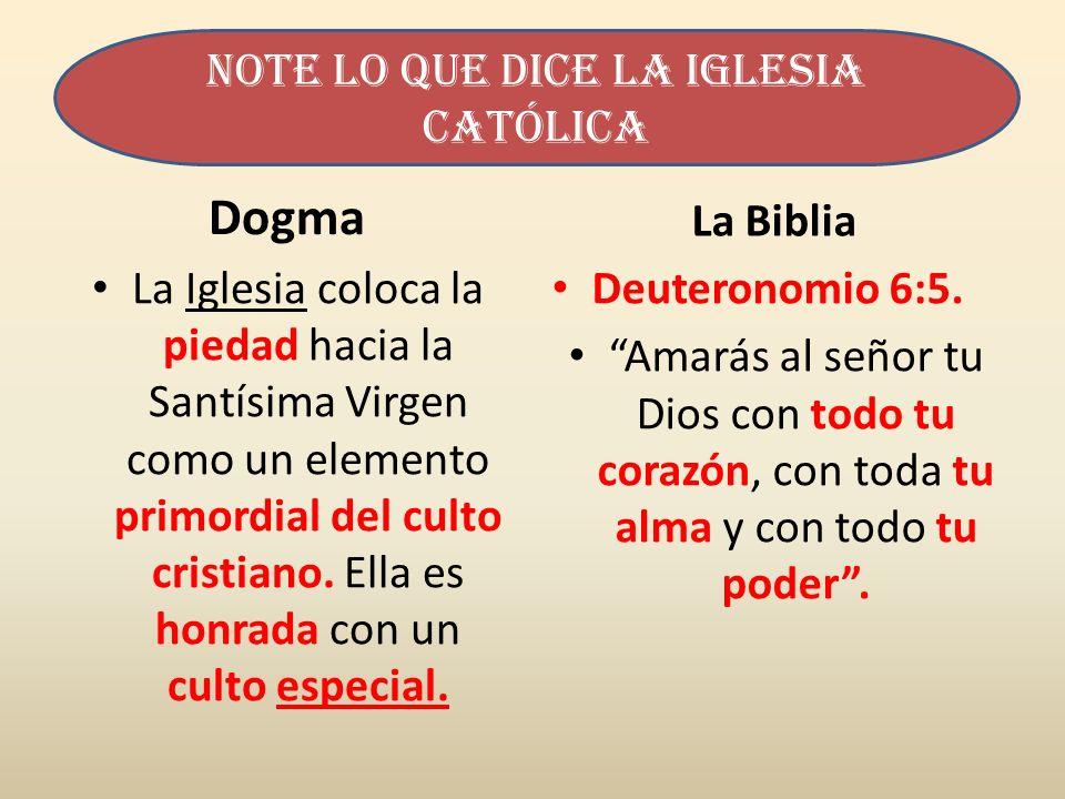 Note lo que dice la iglesia Católica