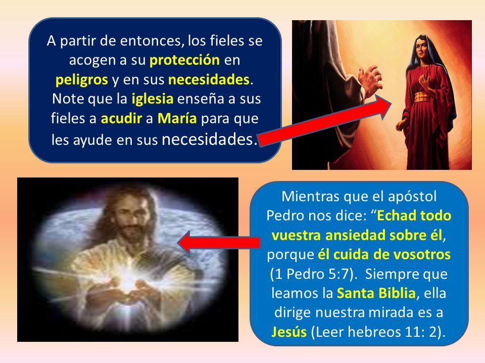 A partir de entonces, los fieles se acogen a su protección en peligros y en sus necesidades.