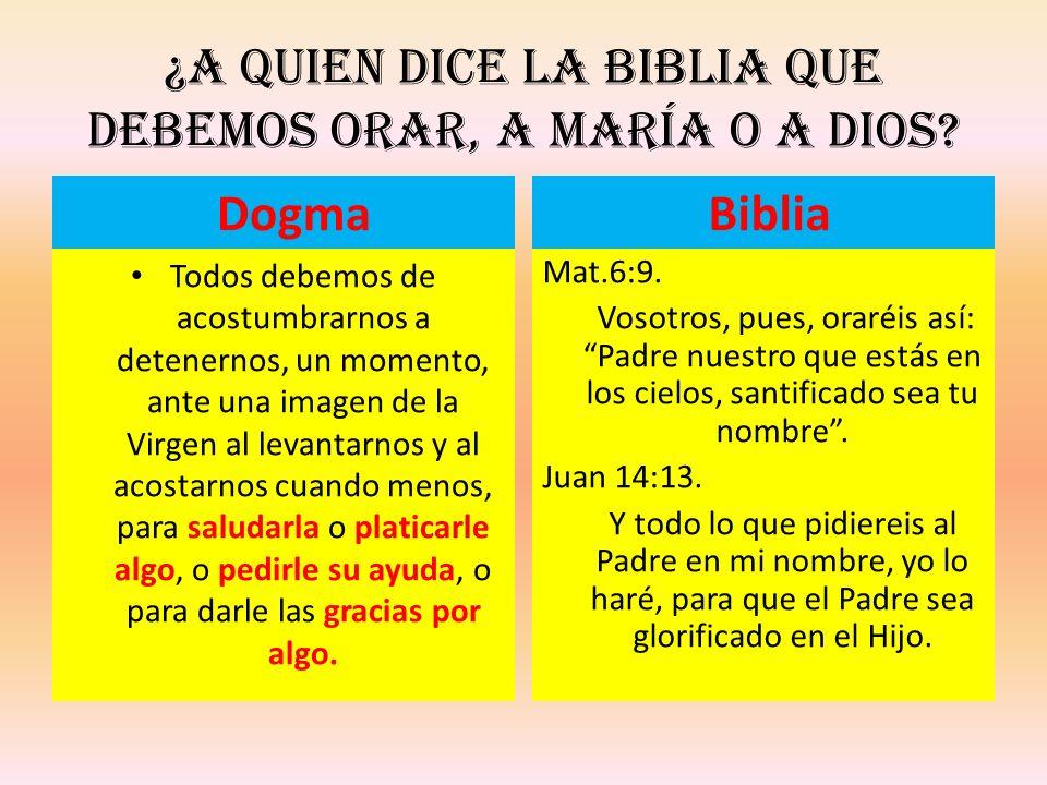 ¿A quien dice la Biblia que debemos orar, a María o a Dios