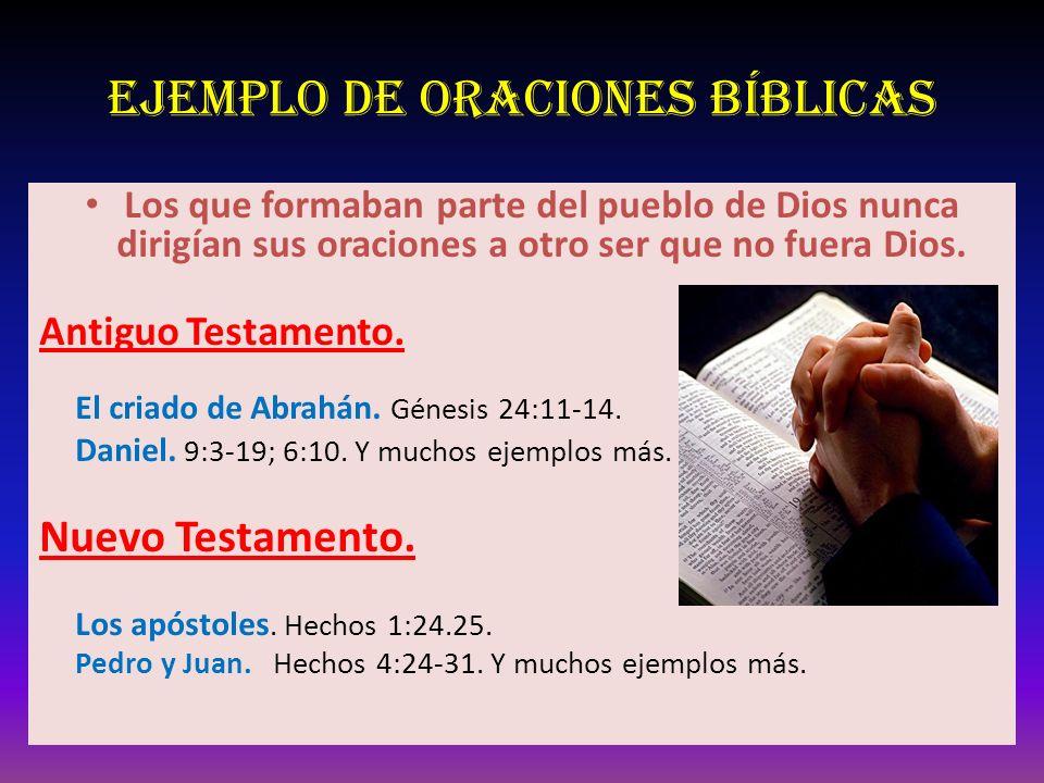Ejemplo de oraciones Bíblicas