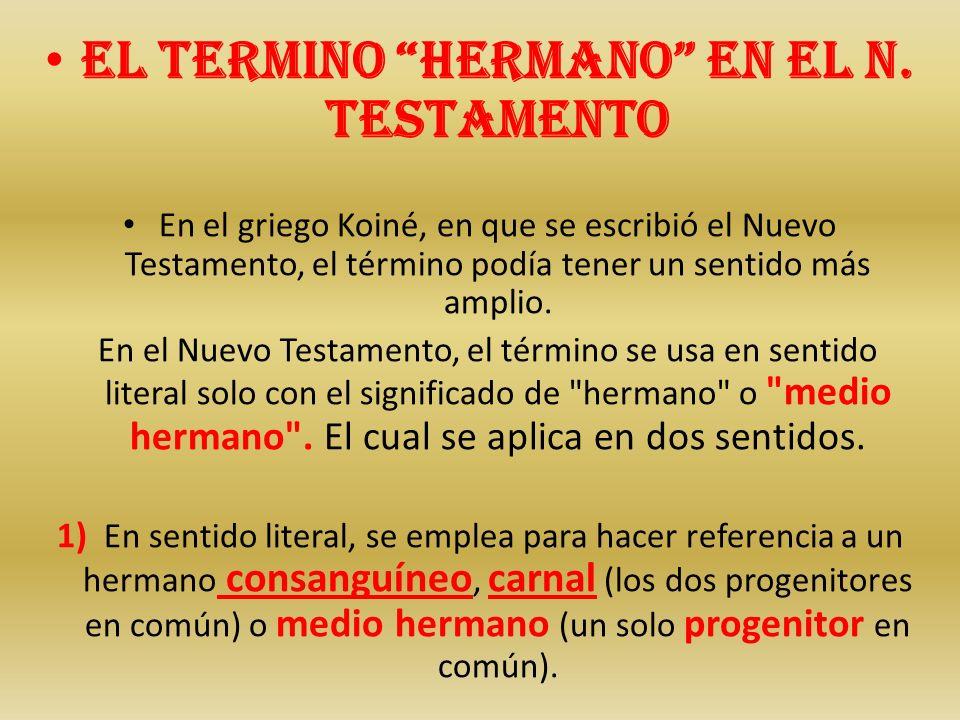 El termino hermano en el N. Testamento