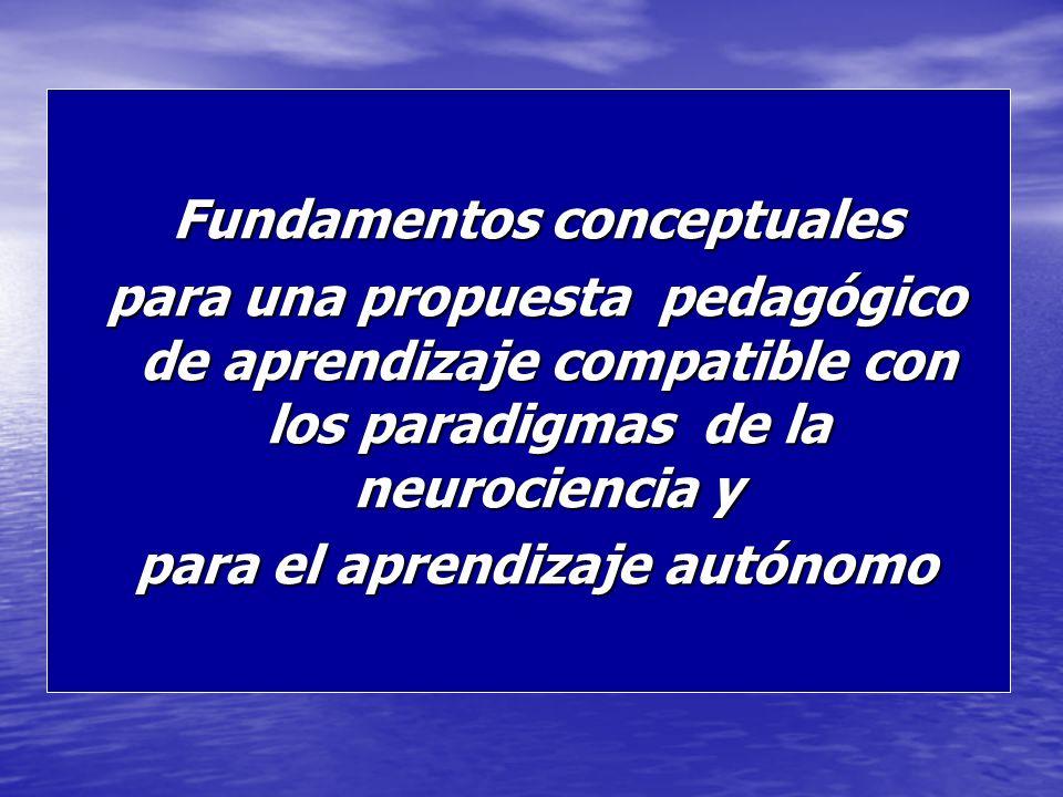 Fundamentos conceptuales para el aprendizaje autónomo