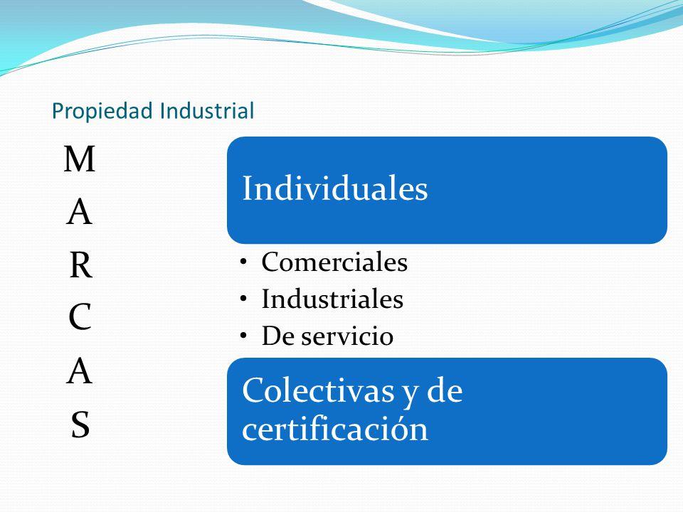 MARCAS Propiedad Industrial Individuales Comerciales Industriales