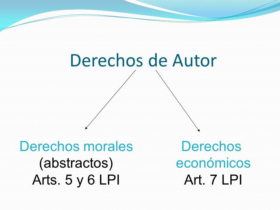 Derechos de Autor Derechos morales (abstractos) Arts. 5 y 6 LPI