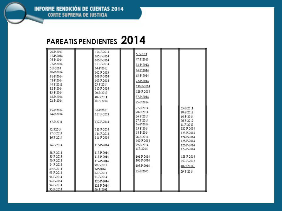 PAREATIS PENDIENTES 2014