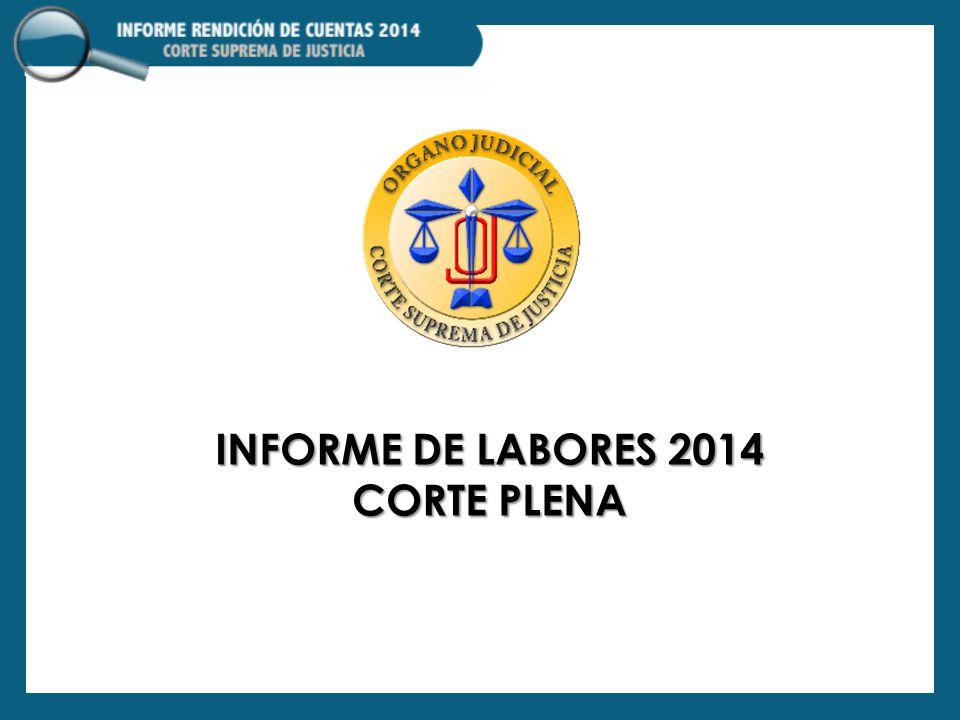 Informe de labores 2014 corte plena
