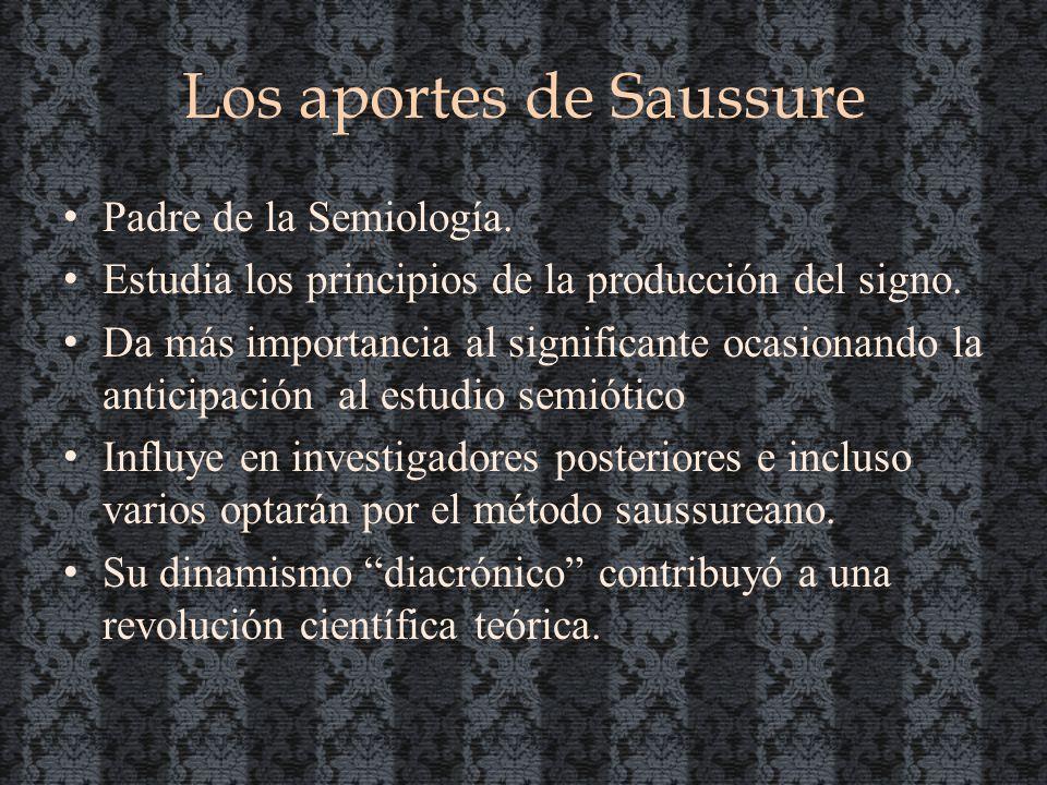 Los aportes de Saussure