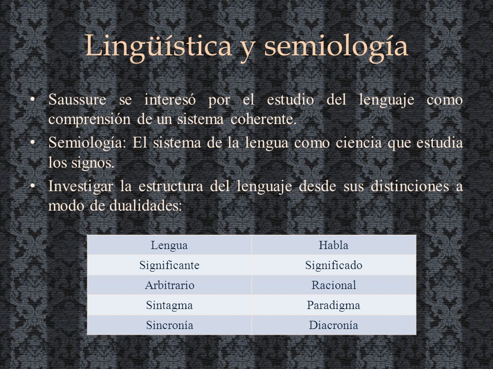 Lingüística y semiología