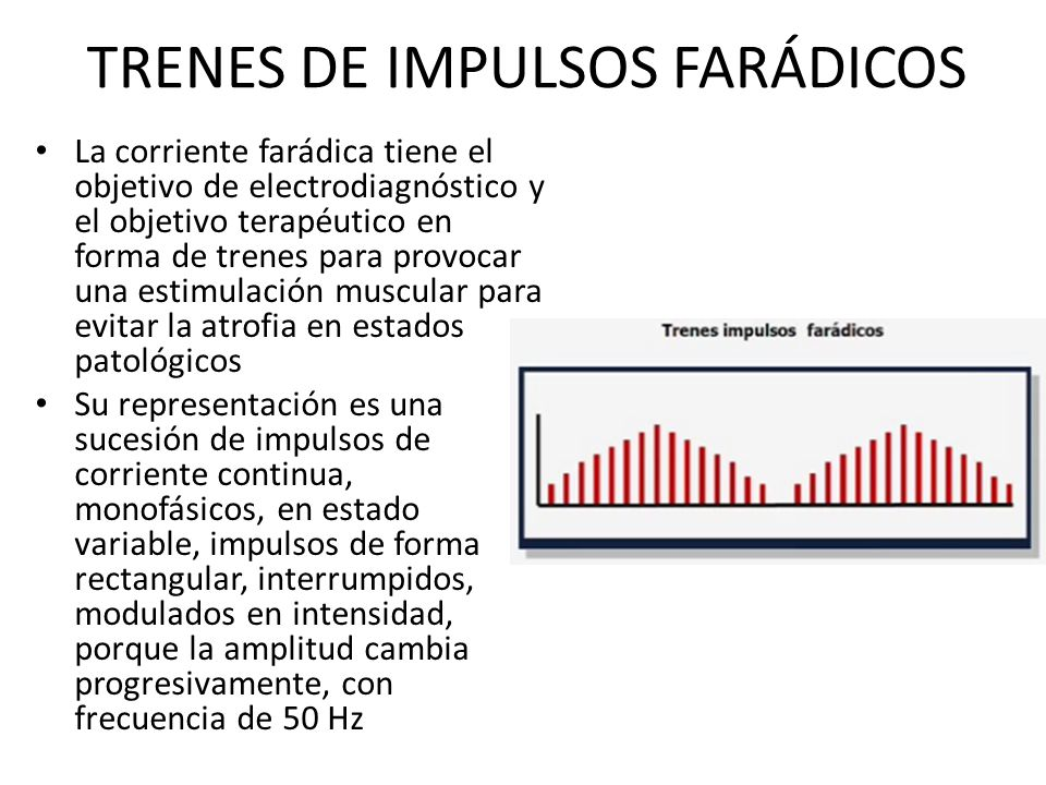 TRENES DE IMPULSOS FARÁDICOS