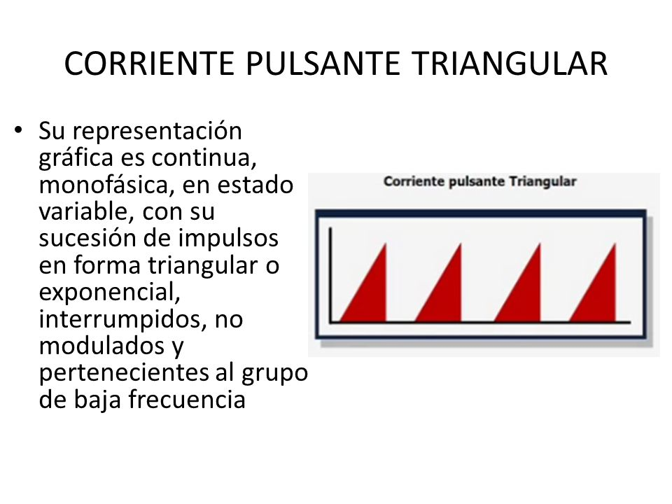 CORRIENTE PULSANTE TRIANGULAR