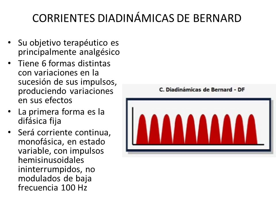 CORRIENTES DIADINÁMICAS DE BERNARD