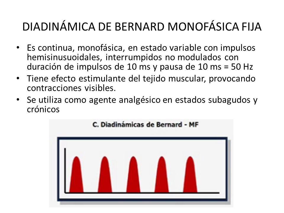 DIADINÁMICA DE BERNARD MONOFÁSICA FIJA